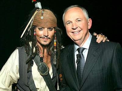 Johnny Depp and Dick Cook