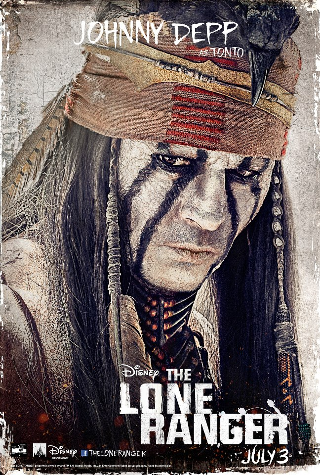Lone Ranger movie Depp Poster